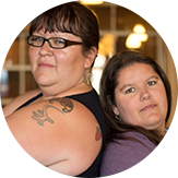 Photo of Denise Booth and Krysta Williams