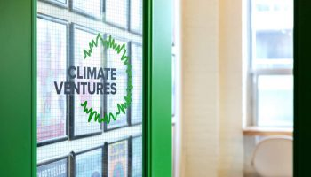 Door to the Climate Ventures space in CSI Spadina